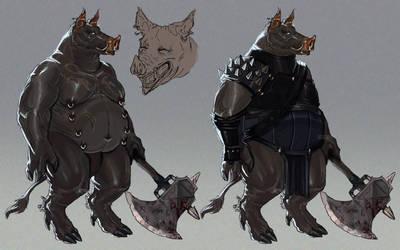 Warrior pig design by Silicon65
