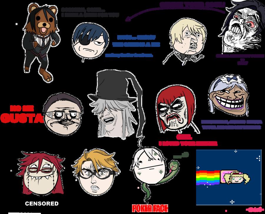 Kuroshitsuji memes by Erieth