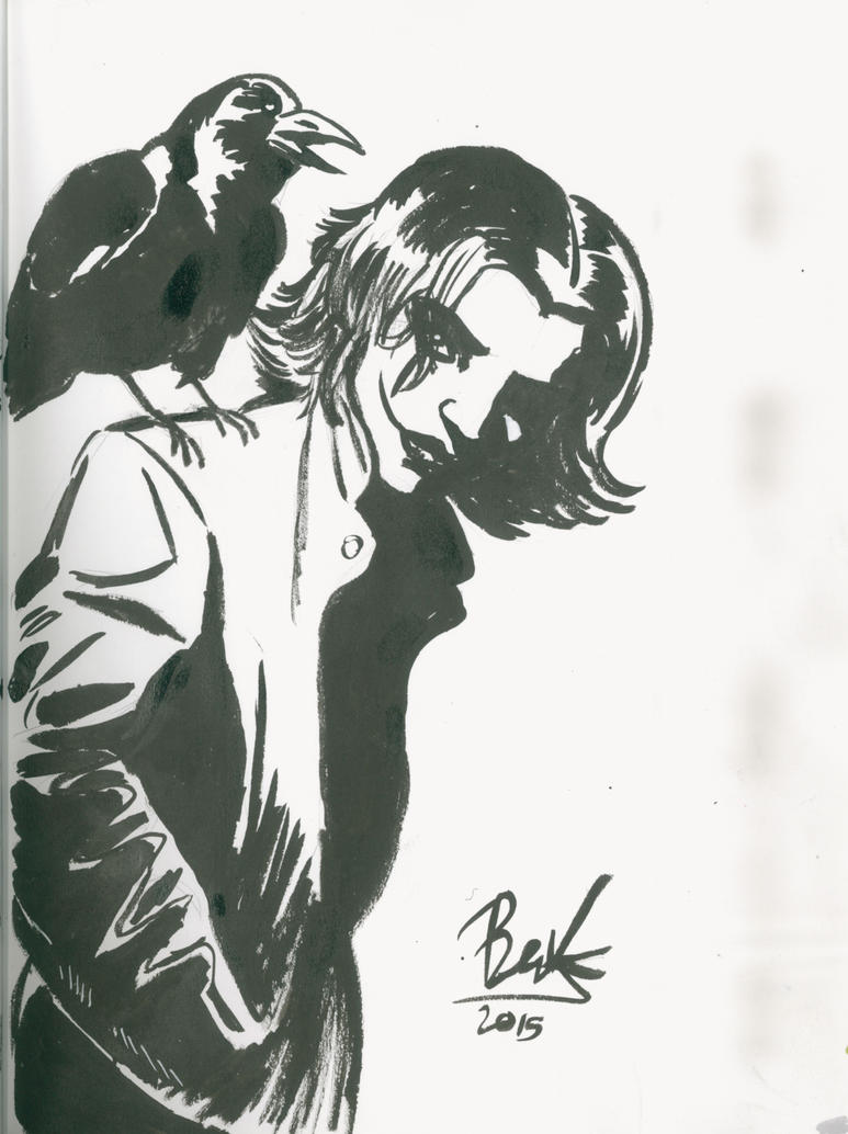The Crow City of Angels sketch by oluklu