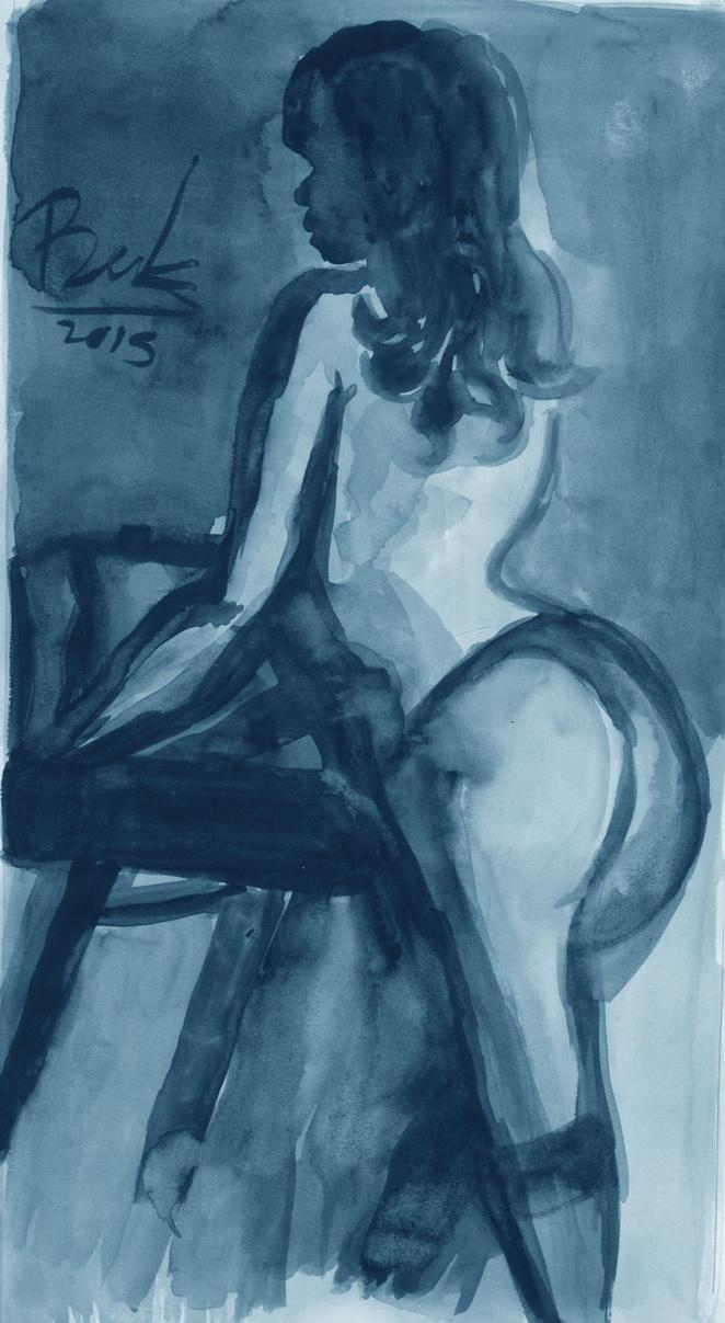 Noir Watercolor by oluklu