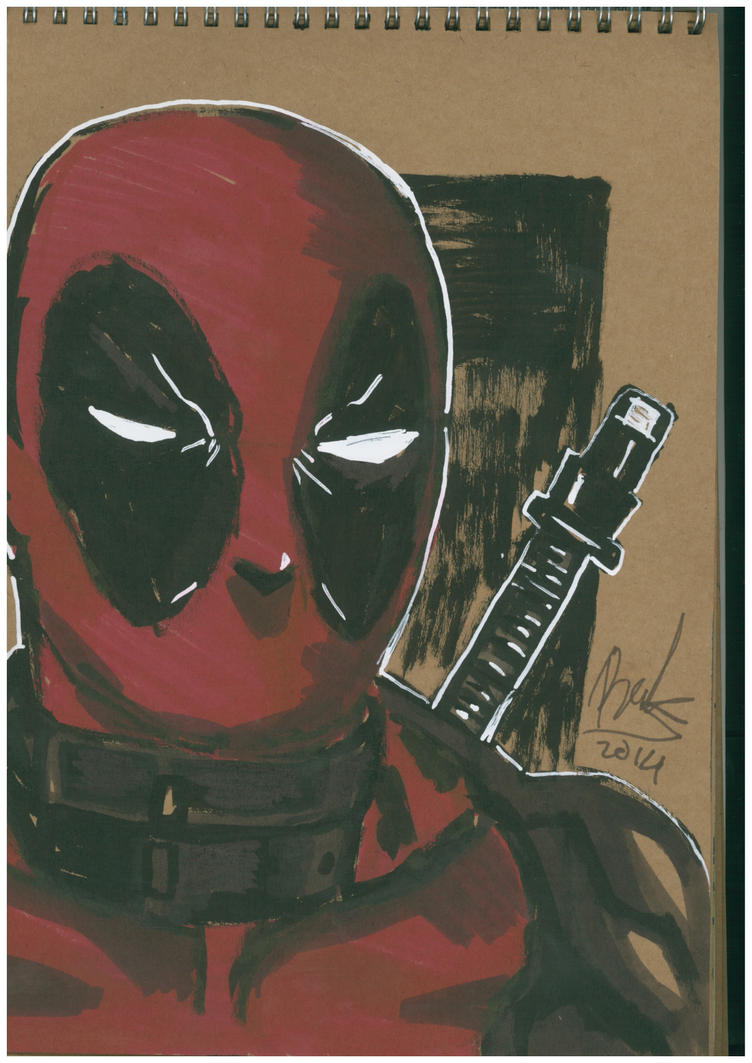 Deadpool portrait by oluklu
