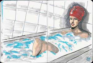 The Lady in a bathtub