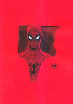 Spider-Man Inkwash Sketch