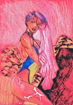 Psylocke In A Swimsuit Artwork