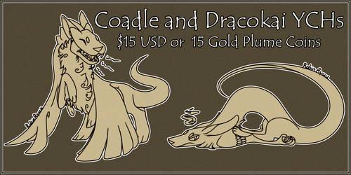 Coadle and Dracokai Chibi YCHs
