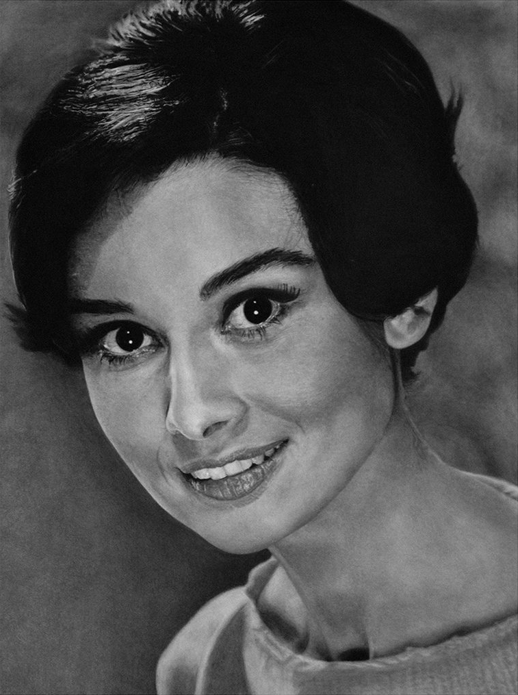 Audrey Hepburn 1953 by MVVR