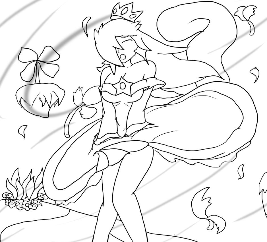 rosalina windy weather v3 lineart by xero j on deviantart