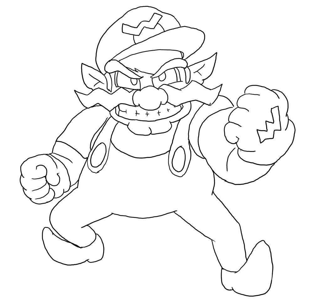 wario coloring pages - photo#18