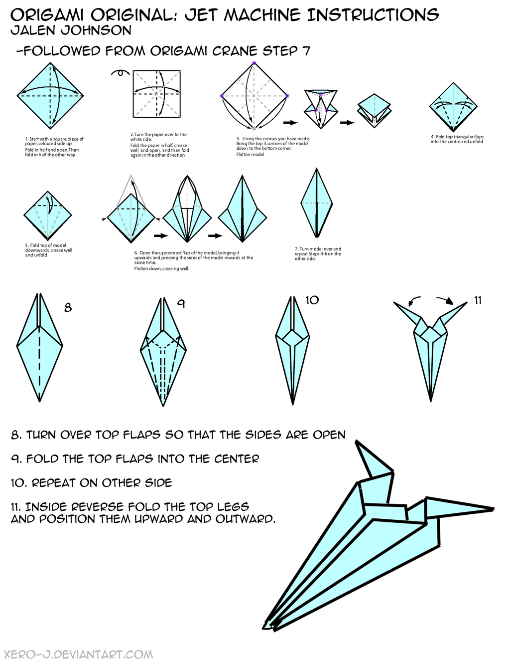 Origami Jet Machine Instructions By Xero J