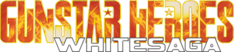 Gunstar Heroes: White Saga Logo by Xero-J