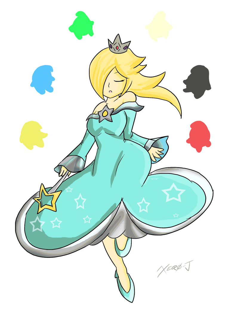 Rosalina: Rainbow Star :Animation: by Xero-J
