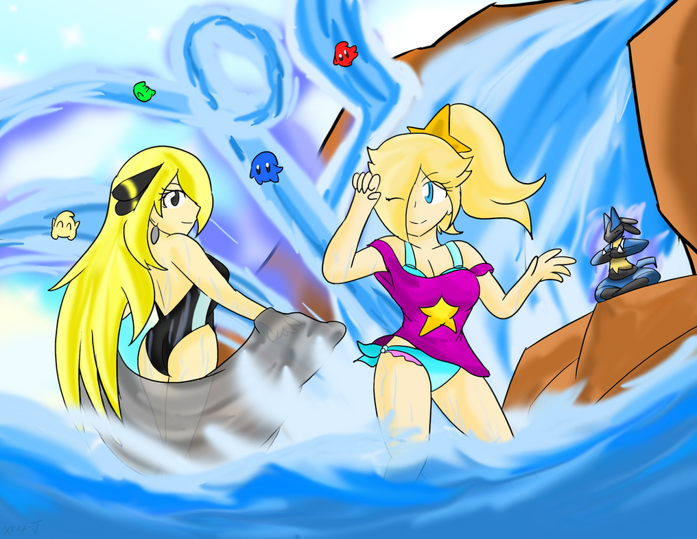 Rosalina and Cynthia: Summer Begins by Xero-J