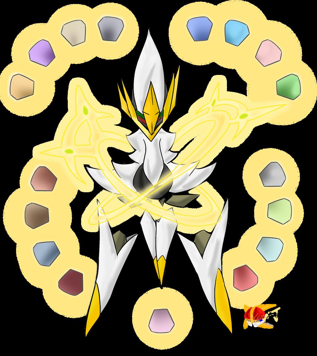 Mega Arceus by Xero-J on DeviantArt