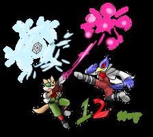 Smash Advent no.12: Fox and Falco by Xero-J