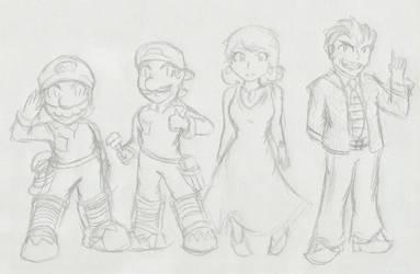 Super Mario Bros.: The Movie :Sketch: by Xero-J