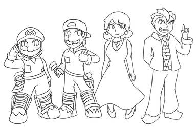 Super Mario Bros.: The Movie :Lineart: by Xero-J