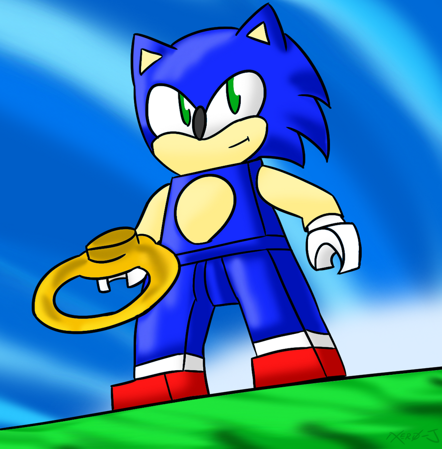 how to draw sonic game
