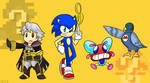 Robin, Sonic, Fighter Fly and Yamamura