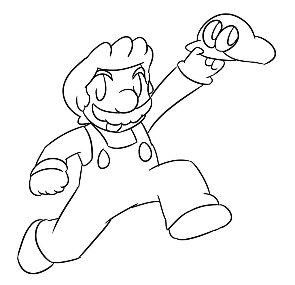 Super Mario Odyssey Lineart By Xero J On Deviantart