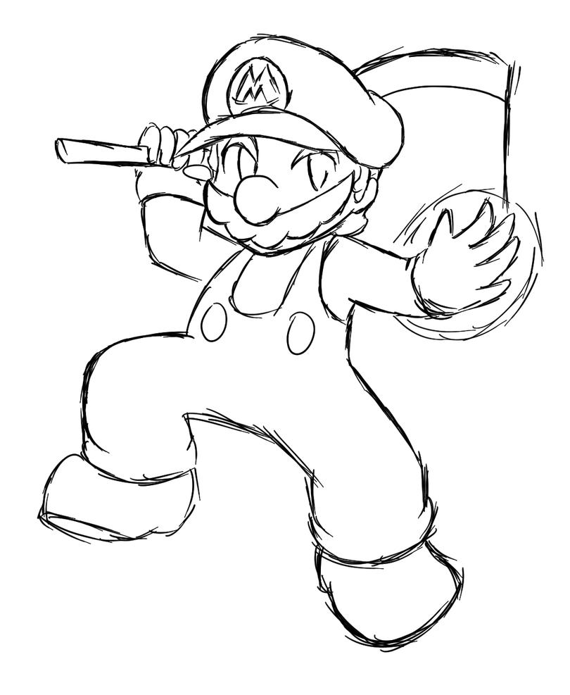 Super Mario Tales: Mario ~Commission~ :Lineart: by Xero-J ...