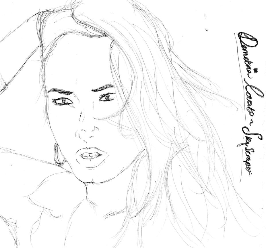 Demi Lovato Free Coloring Pages Drmo Lovatp Coloring Pages Printable