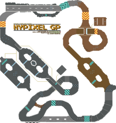 Hypixel's TKR: Hypixel GP course map