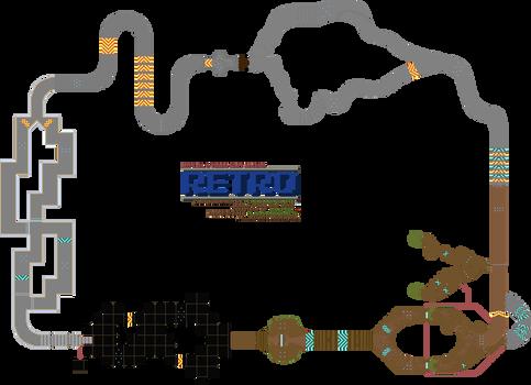 Hypixel's TKR: Retro course map