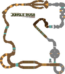 Hypixel's TKR: Jungle Rush course map