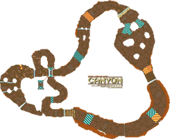 Hypixel's TKR: Canyon Course Map