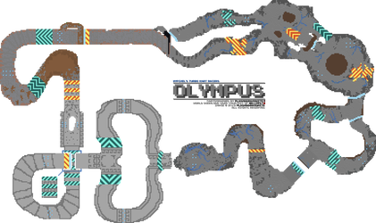 Hypixel's TKR: Olympus course map