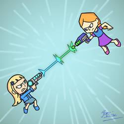 Energy Gun Fight