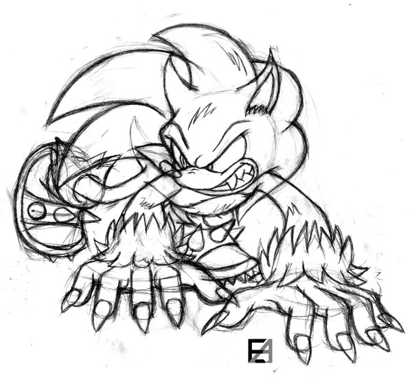 sonic the werehog coloring pages - photo#23