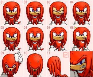 Knuckles Expression by EAMZE