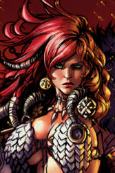 Detail of Red Sonja by Raapack