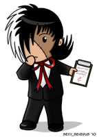 Puzzled Black Jack Chibi by hwshipper