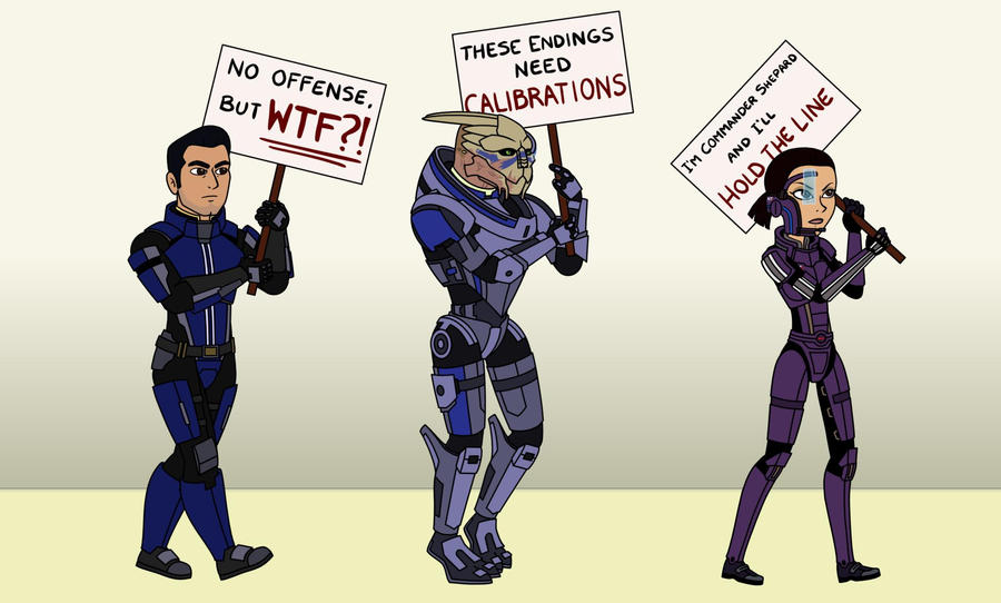 Line Art Effect Photo : Mass effect 3 we'll hold the line!! by ninjapoupon on deviantart