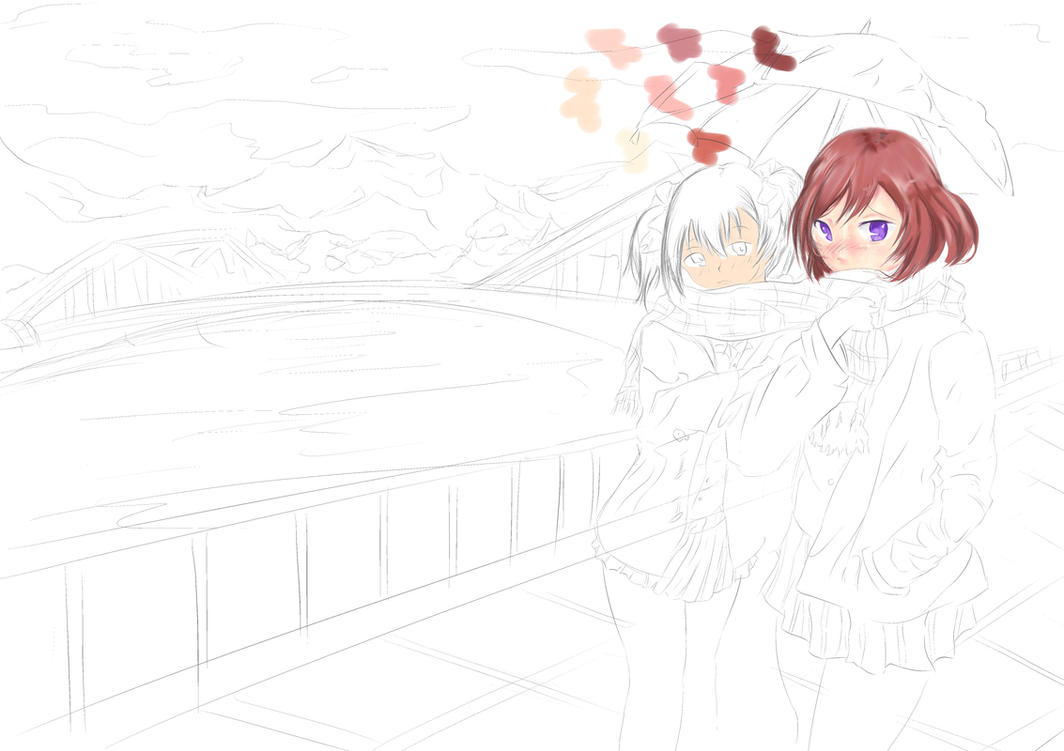 Line Art Anime : Maki nico love live line art by yurudant on deviantart