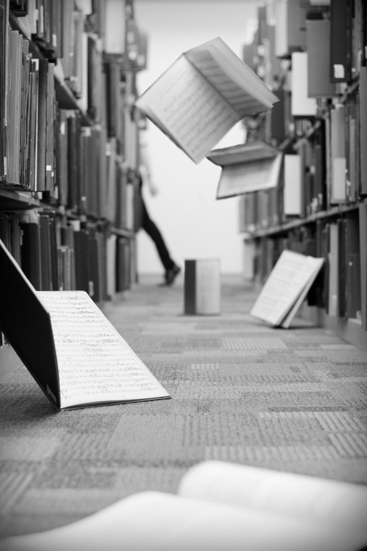 Walking through the Library by AppareilPhotoGarcon