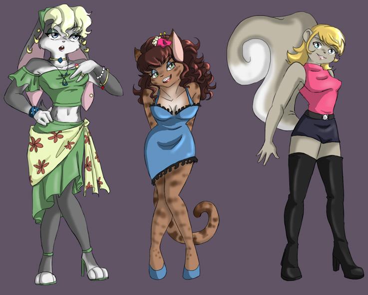 Furry Chicks by Ty-Chou