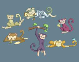 Monkeys by Ty-Chou