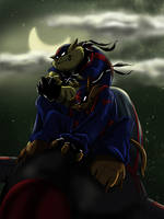 Swat Kat's Moon by Ty-Chou