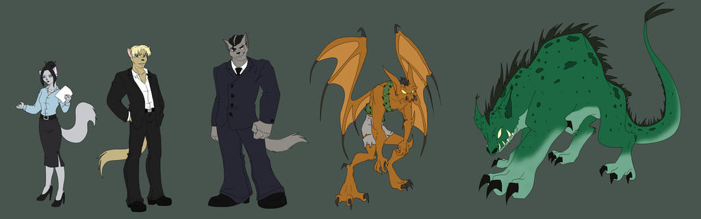 Sk: Masks Character Designs 3