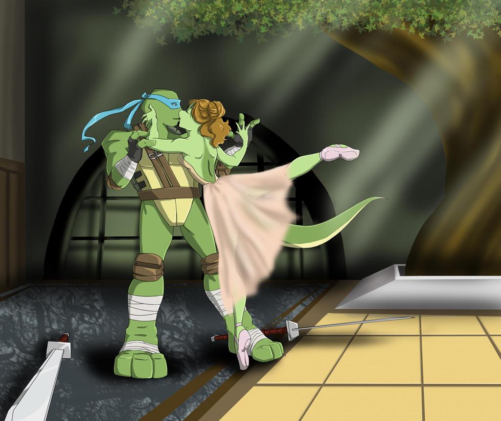 TMNT-U 2014 - April O'Neil and Donatello by nichan on DeviantArt