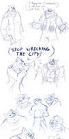 Swat Kats Sketch Dump 4