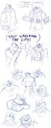 Swat Kats Sketch Dump 4 by Ty-Chou