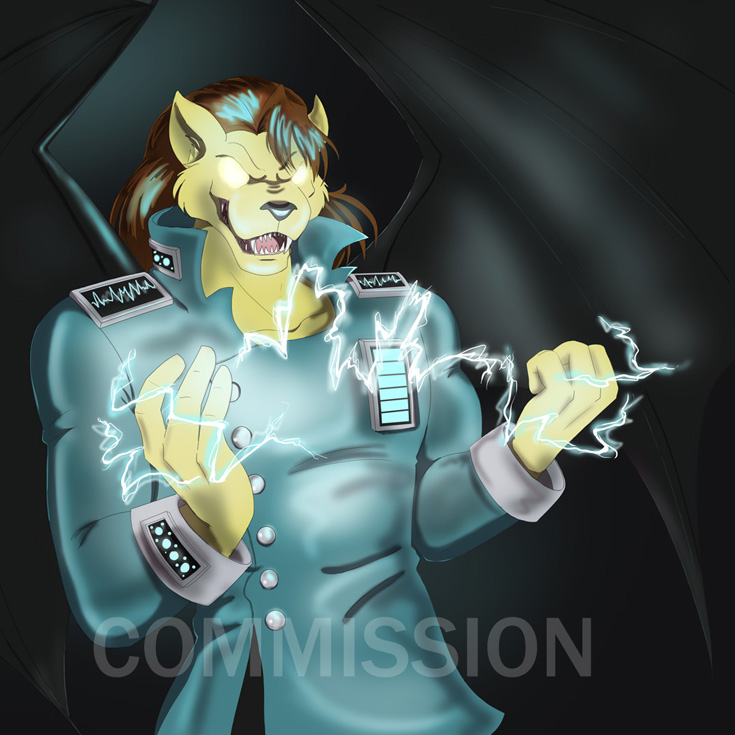 Commission: Casandro in Hard Drive's Surge Coat by Ty-Chou