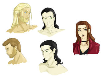 Avengers Face Studies by Ty-Chou