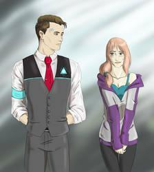 DBH: Bodyguard!Connor and Samantha