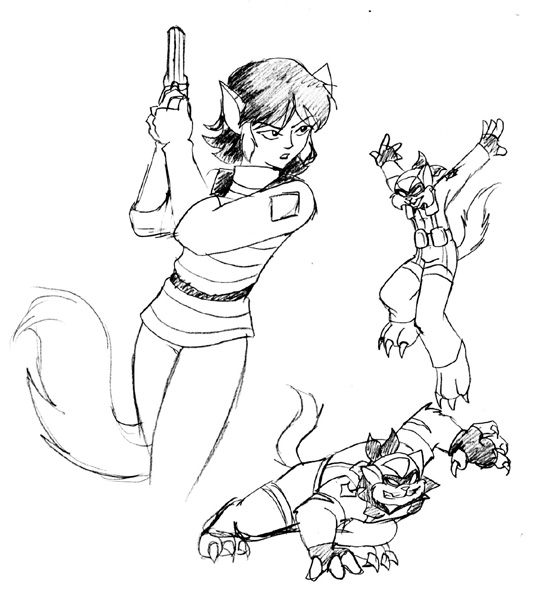 Swat Kats: Felina sketch by Ty-Chou