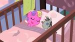 Skyla in her crib